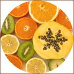 Frutas ecológicas fuente de vitaminas