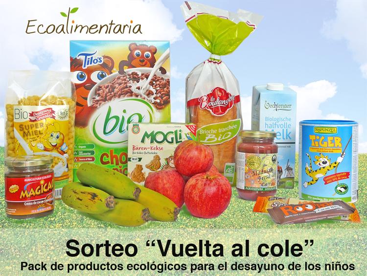 """Lote de productos ecológicos para la """"Vuelta al cole"""""""