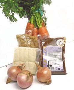 Ingredientes sopa de miso con verduras ecológicas