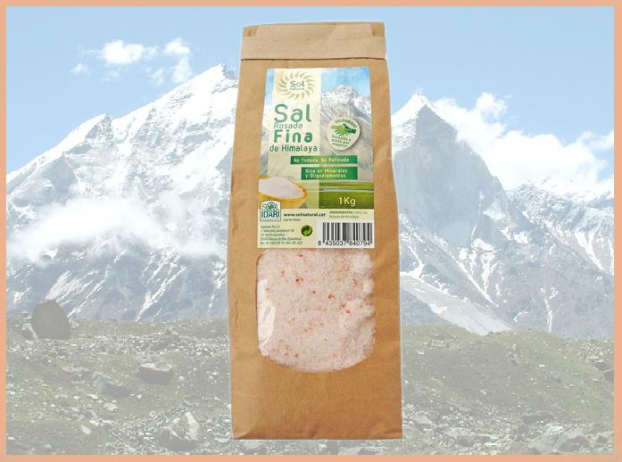 Sal del Himalaya para acompañar alimentos ecológicos